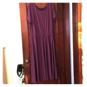 Plum Blouson Dress